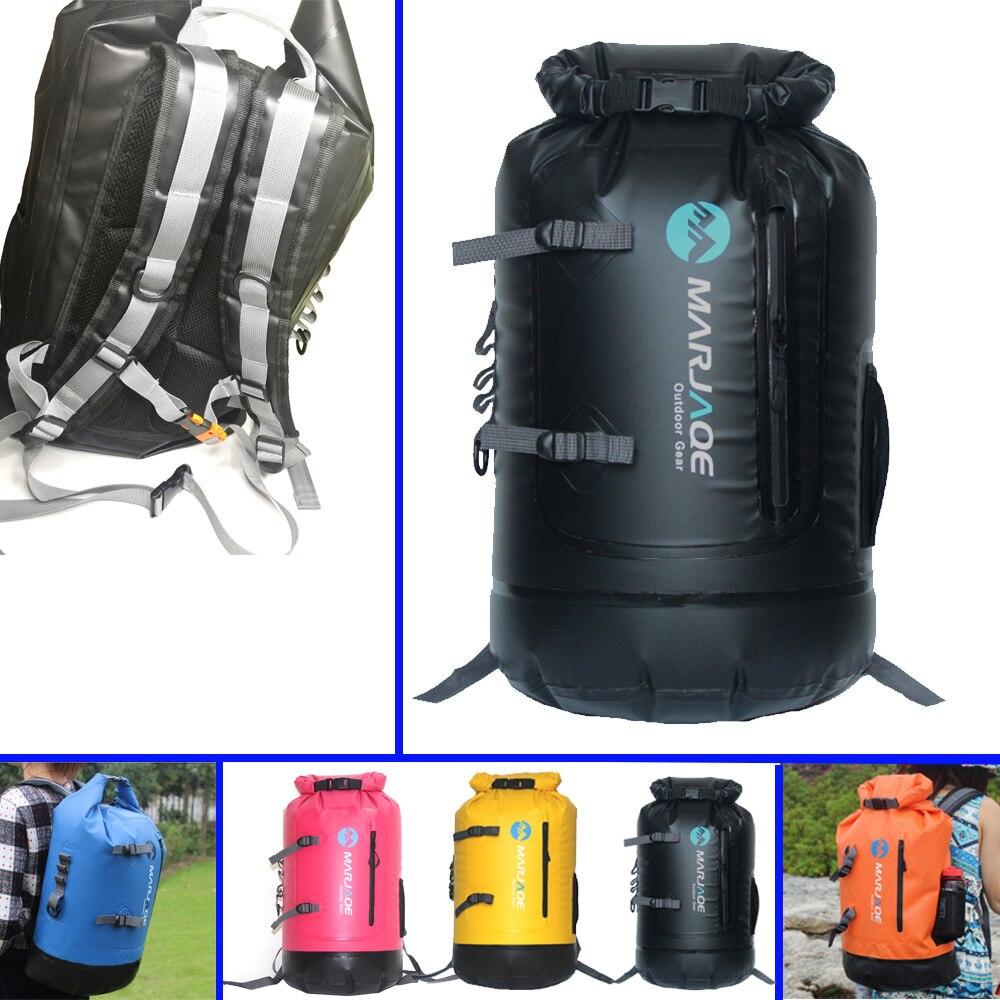 30L kayak pêche randonnée étanche sac sec résistant Roll-Top fermeture Gear sac à dos voile dérive grande capacité sac