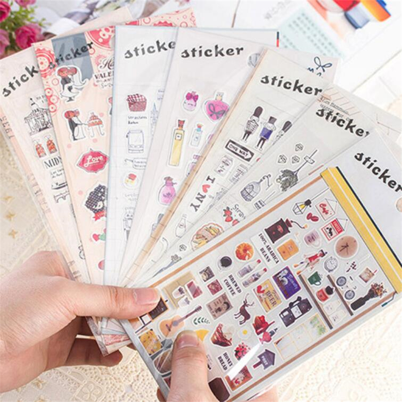 Diy cute kawaii perfume pet stickers vintage tower sticky for Autocollant decoration