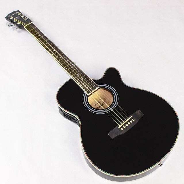 genuine 40 inch black acoustic guitar guitar eq slim barrel body electric guitar jita box guitar. Black Bedroom Furniture Sets. Home Design Ideas
