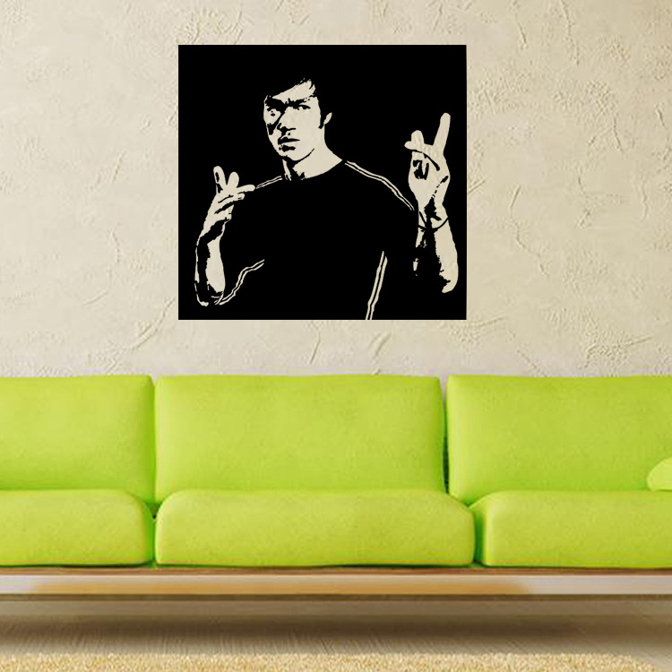 Martial Arts Myth Bruce Lee Creative Home Furnishing TV Background Wall  Stickers Manufacturers Wholesale China. Compare Prices on Art Furniture Manufacturer  Online Shopping Buy
