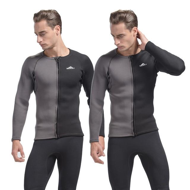 22e0834fc Sbart 3mm wetsuit neoprene top rashguard nadar camisas camisa inverno manga  longa natação surf mergulho roupa