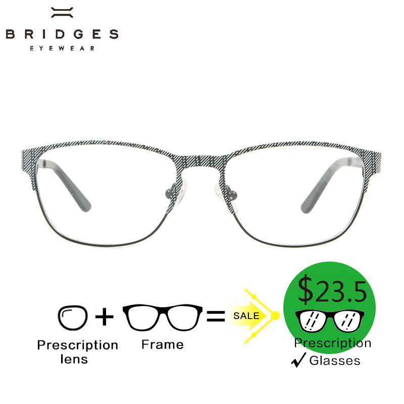BRIDGES Metaal Dames Bijziendheid Eyewear Recept Vintage Business - Kledingaccessoires