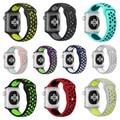 New silicone sports banda strap para apple watch n k series 1 + série 2 faixa de 38 m 42mm espaço verde volt pulseira de prata para a apple