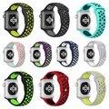 Nueva banda de silicona deportes correa para apple watch n k serie 1 + serie 2 banda 38 m 42mm espacio verde volt correa de plata para apple