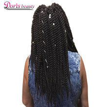 Doris beauty Havana Twist Crochet Ombre Braiding Hair 12'' 18'' Synthetic Hair Weave Senegalese Twist Hair Black Brown Purple(China)