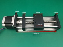Best Price GGP Ball Screw 1204 1605 1610 Slide Rail 600mm 550mm Linear Guide Moving Table Slipway+Nema23 motor 57 Stepper Motor