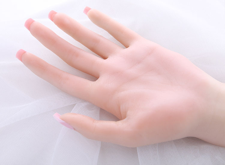 Fast Free shipping Realistic Female Hand Mannequin Soft Silicone Flexible Mannequin Hand For Ring Bracelet And Glove Display in Mannequins from Home Garden