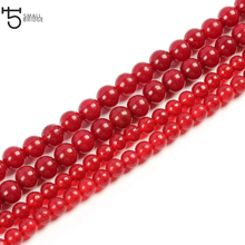 8mm Natural Red Coral Stone Beads for Bracelet making Diy Necklace Loose Spacer Precious Wholesale S010