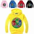 2017 Children Pjmask Cartoon Hoodies Jackets & Sweatshirts for Boys Hooded Sportswear Infantil Moleton Girls Long Sleeve Tops