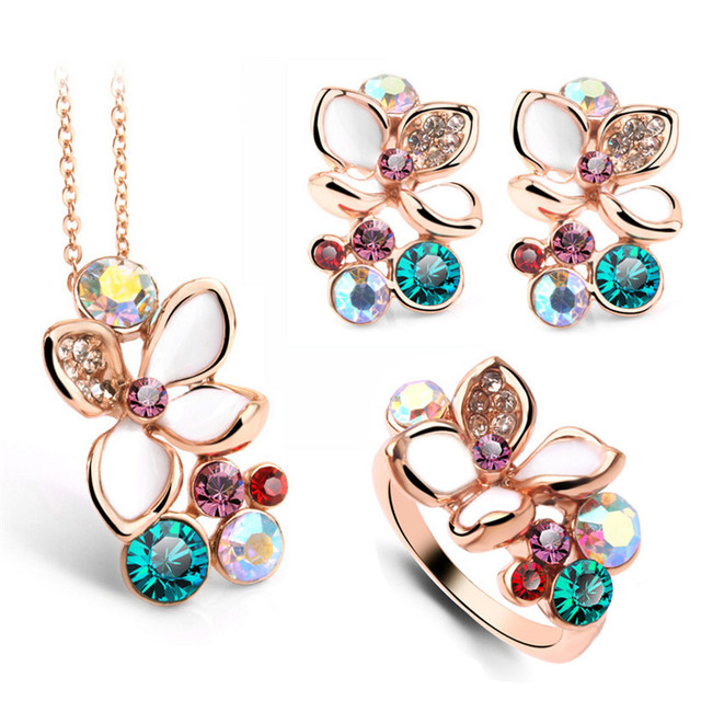 Multi Color Flower Crystal...