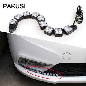PAKUSI 1 комплект DRL противотуманная фара лампа Автомобильный светодиодный дневной свет 12В для Mercedes Chevrolet Cruze Honda Civic Mazda CX-5 VW Golf 5 6 7 Tiguan