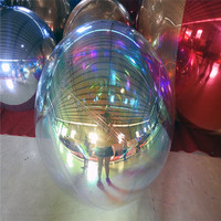 Colourful Inflatable Mirror Ball For Fashion Show Customized Unique Decoration