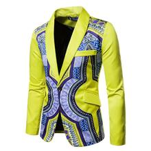 цена African wax blazers for men Ankara print suit jacket man wedding wear dashiki coat онлайн в 2017 году