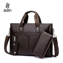 Männer Leder Handtaschen Vintage Leder Aktentasche Laptop Umhängetaschen Kausalen Leder Portfolio Taschen Umhängetasche K8273-4