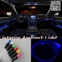 For DODGE Avenger 1995 2014 Car Interior Ambient Light Panel illumination For Car Inside Cool Strip Light Optic Fiber Band
