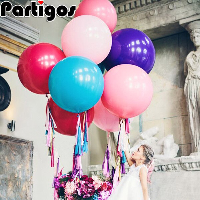 1pc 36 Inch Thailand Imports Giant Round Latex Helium Balloons For Wedding Birthday Party Festival