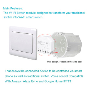 Image 3 - Tuya smart WiFi switch module turn your old switch into smart , compatible with alexa , google home ,IFTTT , timer switch module