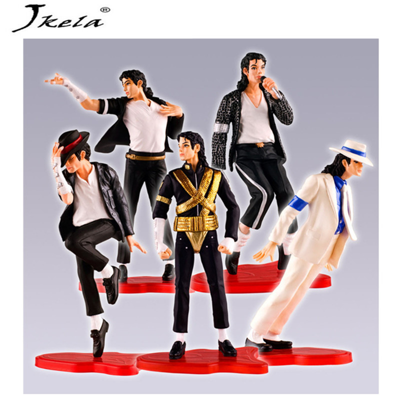 Michael Jackson Hot Toys 5 Pieces/Set of Action Characters Popular King Collection Model Toy King Children's Toy PVC