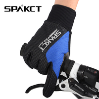 New SPAKCT GEL pad Microfiber Leather Bike Bicycle Long Full Finger Cycling Riding Racing Gloves Sharp,5 Colors