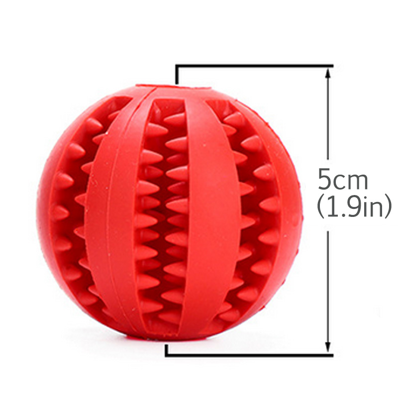 Купить с кэшбэком 5CM Stress Ball Pet Dog Rubber Balls Cat Puppy Chew Toy Ball Chew Tooth Cleaning Healthy Bouncy Balls For Children Play With Pet