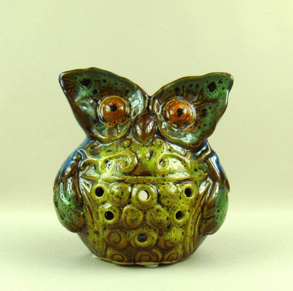 Porcelain Owl Figurine Candle Holder Ornamental Ceramics Nighthawk Miniature Tealight Stand Decoration Art And Craft Accessories Candle Holders