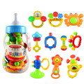 Meibeile 10 pieces/set Rattle Toys Baby Rattle Feeding Bottle Free Shipping