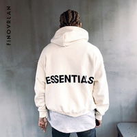 Kanye West Hooides Men's Fear of God Winter Sweatshirts Men Hip Hop Streetwear Letter printing Fleece Hoody Man Clothing