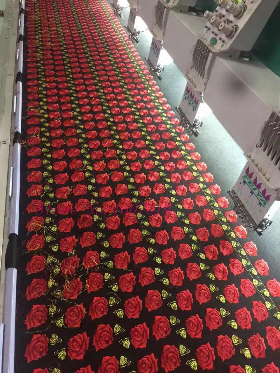 1 adet büyük yamalar marka parlatıcı pullu 3D etiket çıkartmaları kanat gül nakış Motif aplike konfeksiyon çocuk kadınlar DIY giysi rozeti