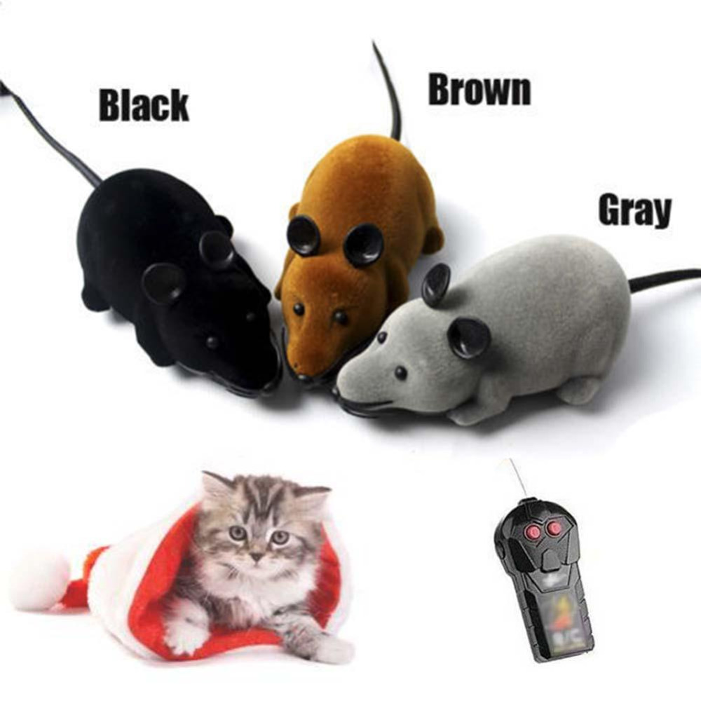 Vitoki Wireless RC Mouse Electronic Toy Rat Mice Children's Day Toy Gift For Baby Kids Mouse Love Cute Toy Black Brown Gray