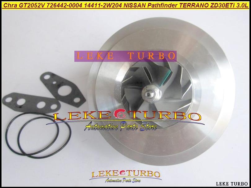 Turbo Cartridge Chra GT2052V 726442-0004 726442-0001 726442-5004S 726442 14411-2W204 For NISSAN Pathfinder TERRANO ZD30ETi 3.0L free ship turbo for nissan terrano ii pathfinder 01 05 td27ti 2 7l gt2052s 722687 14411 7f411 722687 5001s turbocharger gaskets