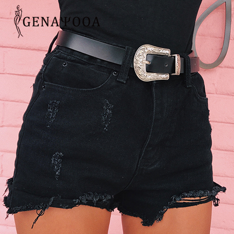 Sexy Summer Women Shorts Jeans Fru-Lined Hole Streewear Denim Shorts Black Slim Casual High Waist Jeans