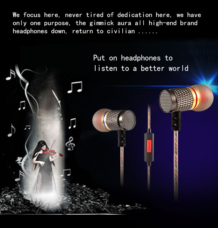 TTLIFE ED2 Professional Stereo Metal Headphone Earphone Earbud Super Bass Headset With Mic For Phone xiaomi Phone Universal rock y10 stereo headphone earphone microphone stereo bass wired headset for music computer game with mic