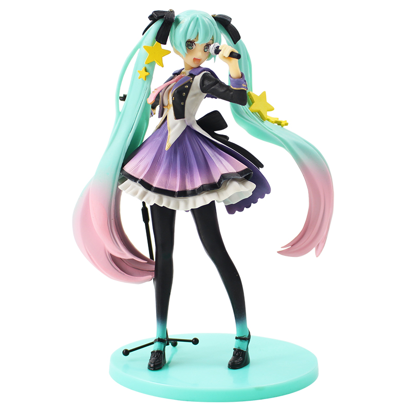 18cm Hatsune Miku 10th Anniversary TAITO Figure Singing Song Action Figure Collectible Model Toy