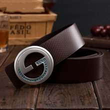 2017 latest luxury high quality L wedding 100% Genuine leather pins buckle business V double gg belts for jeans ceinture homme(China (Mainland))