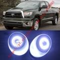 2x LED de Luzes Diurnas DRL luzes de Nevoeiro Lente Do Projetor + Angel Eyes Kits Para Toyota Tundra 2007-2013