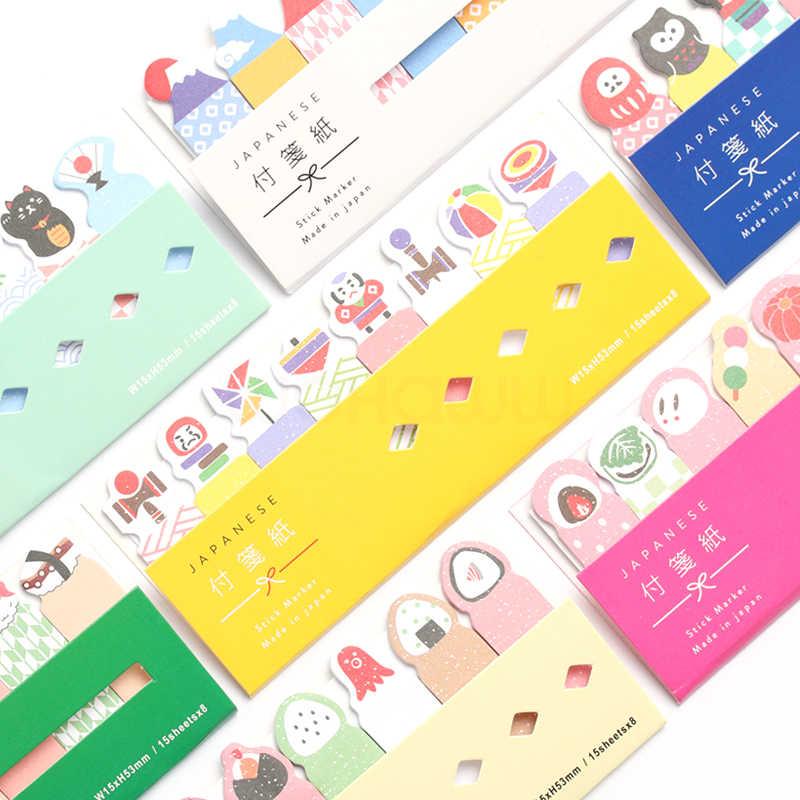 Kawaii, милый планировщик, маркер, блокнот для заметок, липкая закладка для заметок, бумажный индекс, офисные школьные принадлежности, канцелярские принадлежности
