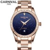 Luxury Women Watches 2019 Ladies Watch Starry Sky Automatic Mechanical Waterproof Female Wristwatch Luminous relogio feminino