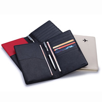 Genuine Leather Passport Holder Lychee Mark Cowhide Passport Bag Credit Card HolderUnisex Card Holder Free Shipping