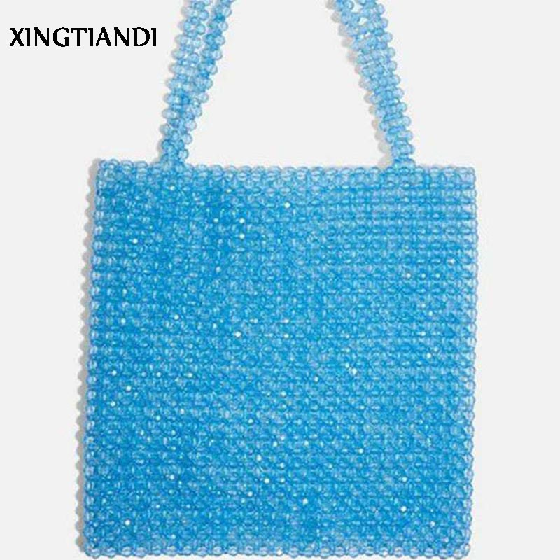 New fashion handmade pearl bag handbag female beaded tote bag shoulder handbags Ins