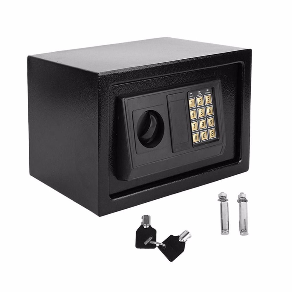 Electronic Safe box Household Wall Security Box Keypad Lock box Deposit Safes keep Money gun Jewellery Cash Safe home office use free shipping mini portable steel petty lock cash safe box for home school office market lockable coin security box