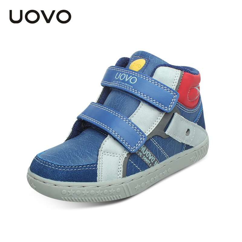 Image 2 - UOVO Spring And Autumn Kids Casual Shoes Boys Sneakers Mid Cut Fashion Children School Shoes Kids Footwear Size #27 37-in Sneakers from Mother & Kids