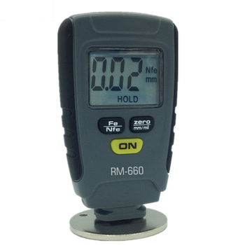 цена на RM660 Digital Car Paint Thickness Gauge Tester Fe/NFe 0-1.25mm For Car Instrument Tool LCD Display Paint Thickness Tester