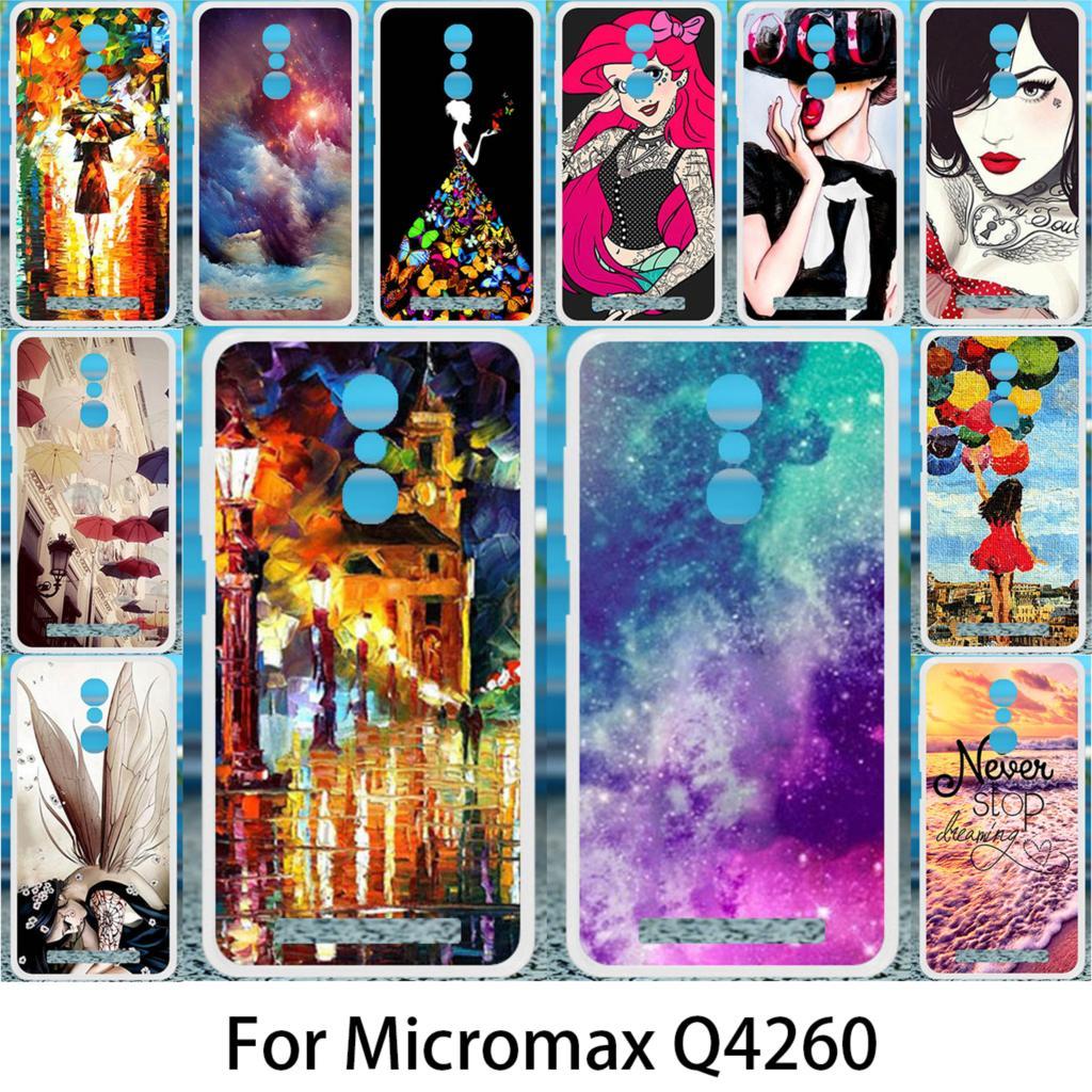 Akabeila мягкий чехол для Micromax Canvas евок Мощность Q4260 кремния случаях DIY окрашены для Micromax сок Q4260 антидетонационных крышка