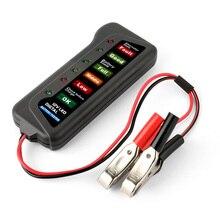 2017 Mini 12V Car Battery Tester Digital Alternator Tester 6 LED Lights Display Car Diagnostic Tool Auto Battery Tester For Car