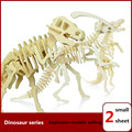 3PCS/Lot DIY 3D Wooden Puzzles Dinosaur Model Assemble Kits Educational Toys for Children and Adults