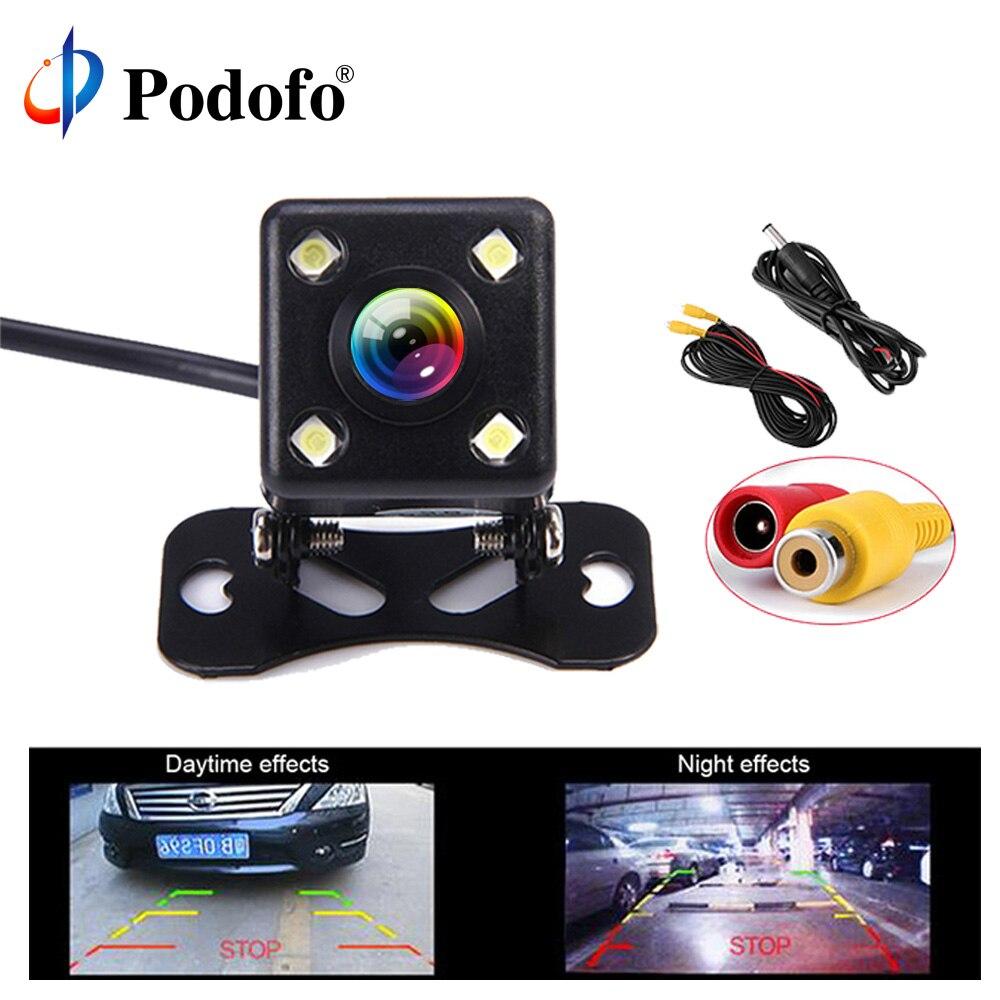Podofo Rear View Camera 170 Degree Viewing Angle Universal Waterproof HD for Car Backup Camera RV Truck Black