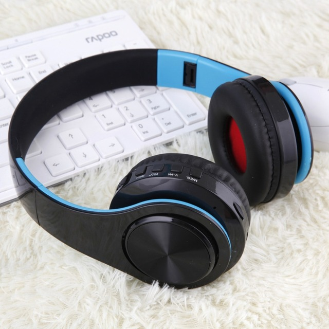 New Wireless Bluetooth Headphones Foldable Headset Stereo Earphones with Mic Support TF Card For Mobile Phone Iphone Xiaomi Mp3