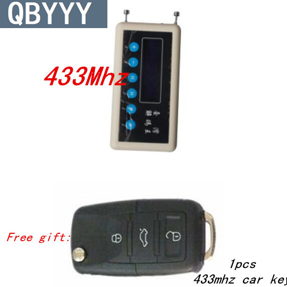 QBYYY 433Mhz Remote Control Signal Detector wireless remote key decoder scanner + SK330 pair cloning Car Key Remote Control dc7 5v 10v remote control wireless frequency meter counter for car auto key remote control detector cymometer power supply cable