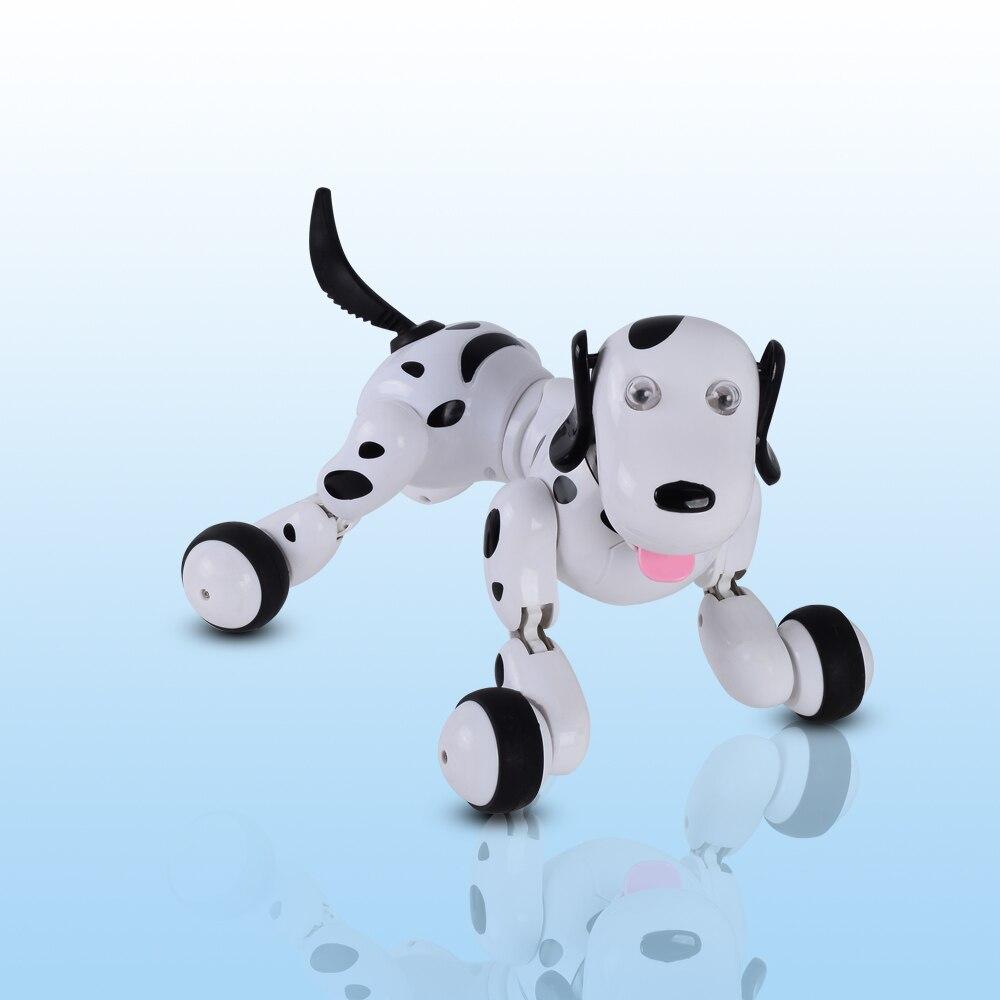 2019 Date Belle 777-338 robot RC Smart Dog 2.4G RC Simulation Intelligente Mini Chien Blanc Rose jouets RC Pour enfants cadeau de noël - 3