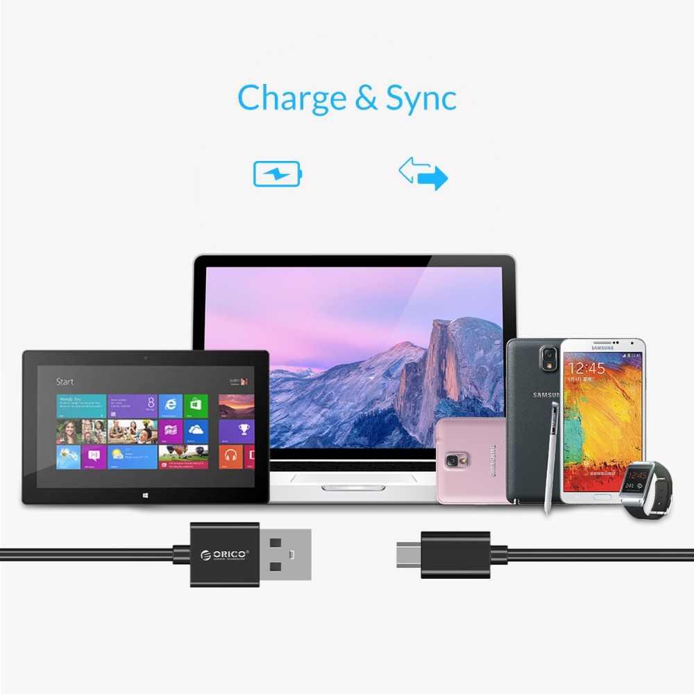 ORICO mikro USB kablo USB 2.0 hızlı veri Sync şarj kablosu Samsung Galaxy Xiaomi HuaWei HTC LG akıllı telefonlar ve daha fazla